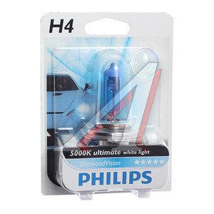 Лампа H4 12V 60/55W P43t-38 Diamond Vision блистер PHILIPS 12342DVB1, P-12342DVбл
