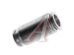 Соединитель трубки ПВХ,полиамид d=12мм прямой металлический MPUC12, АТ-0388,