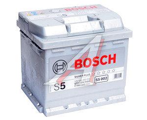 Аккумулятор BOSCH SILVER PLUS 54А/ч обратная полярность 6СТ54 S5002, 6СТ54з S50 02,