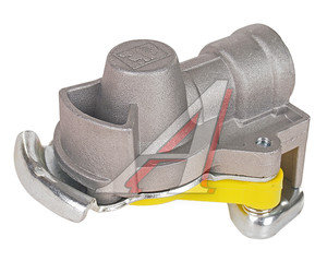 Головка соединительная тормозной системы прицепа 16мм (грузовой автомобиль) желтая с клапаном DIESEL 460341, 07079