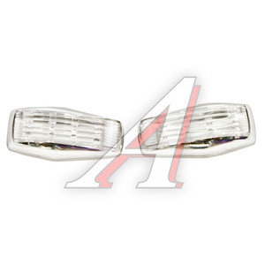 Повторитель поворота 12V Chrome 8 LED MULTY COLOR комплект 2шт. GLIPART GT-50540RGB