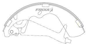 Колодки тормозные HYUNDAI Starex H-1 (-02) (2WD) задние барабанные (4шт.) HANKOOK FRIXA FLH09, 58305-4AA00