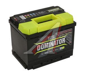 Аккумулятор DOMINATOR 55А/ч 6СТ55з, 83203