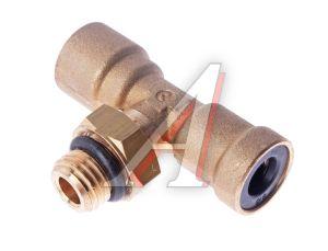Соединитель трубки ПВХ,полиамид d=8мм-8мм (наружная резьба) М12х1.5 тройник латунь CAMOZZI 9412 8-M12X1,5