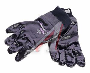 Перчатки текстильные с нитриловым покрытием черные BLACK CRYSTAL р.10 ELEMENTA EXPERT NC-204-10