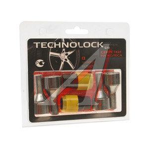 Болт колеса М12х1.5х24 секретки конус комплект 4шт. 2 головки под ключ 17/19мм TECHNOLOCK TECHNOLOCK I3, I3