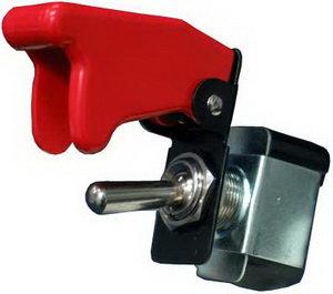 Тумблер с красной крышкой (красная подсветка) PRO SPORT RS-00736
