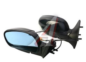 Зеркало боковое ВАЗ-2114 электропривод, с подогревом антиблик, с указателм поворота комплект Политех-НЛ-15, 2114-8201004