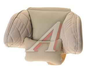 Подушка на подголовник ортопидическая бежевая экокожа Comfort AUTOPROFI COM-0250HR L.BE/L.BE,