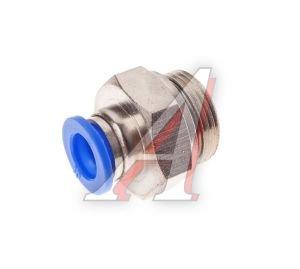 Соединитель трубки ПВХ,полиамид d=10мм (наружная резьба) М22х1.5 прямой PC M22x1.5 d=10, АТ-0717