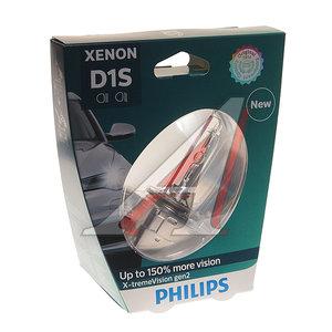 Лампа ксеноновая D1S 35W +150% PK32d-2 4800K Xenon X-Treme Vision Gen2 PHILIPS 85415XV2бл, P-85415XV2бл