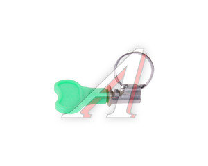 Хомут ленточный 010-016мм с ключом TITAN Н10-16-9KL22