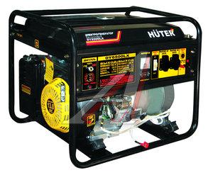 Бензогенератор 5.0кВт,4такт.,расх.=0.4л/кВтч,бак=22л,электростартер,аккум. и колеса HUTER HUTER DY6500LX, 64/1/15