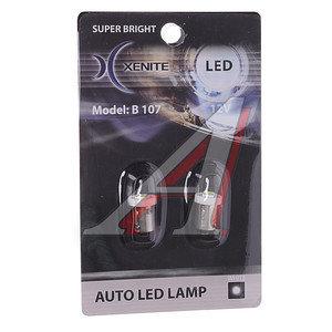 Лампа светодиодная Т4W 0.5W BA9S 12V белая блистер (2шт.) XENITE B 107, 1009227,