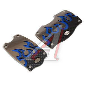 Накладка педали для АКПП комплект 2шт. черно-синий TYPE R GT-38066BLK/B
