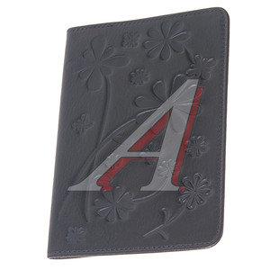 Обложка для паспорта женская из кожи черная 480122, O.50.SL,