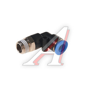 """Фитинг для пластиковых трубок 1/4"""" угловой 8мм с наружной резьбой ROCK FORCE RF-SPL08-02"""