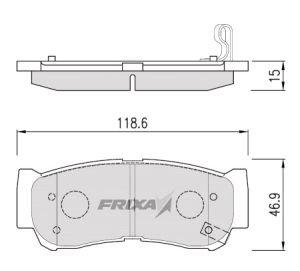 Колодки тормозные HYUNDAI Santa Fe (06-), H-1, Starex KIA Sorento (06-) задние (4шт.) HANKOOK FRIXA S1H09R, 58302-2BA00