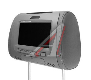"Подголовник с LCD-монитором 7"" DVD/USB/SD/MMC ДУ HP-7001GY(GREY), HP-7001GY,"