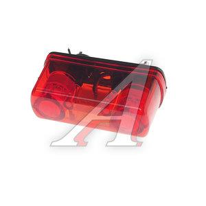 Фонарь освещения знака номерного пластик красный 24V ЕВРО (4 светодиода) АВТОТОРГ НК-0035/LED к