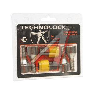 Болт колеса М12х1.5х28 секретки конус комплект 4шт. 2 головки под ключ 17/19мм TECHNOLOCK TL-I4, I4