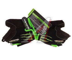 Перчатки велосипедные ладонь-amara+гель MONSTER ENERGY L