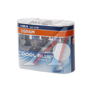 Лампа 12V HB4 51W +50% P22d 5000K бокс (2шт.) Cool Blue Hyper OSRAM 69006, O-69006CBHP2(EURO)