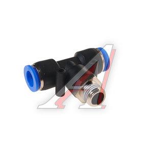 """Фитинг для пластиковых трубок 1/4"""" Т-образный 10мм с наружной резьбой ROCK FORCE RF-SPB10-02"""