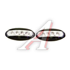 Повторитель поворота 12V Black 4 LED комплект 2шт. GLIPART GT-30771B