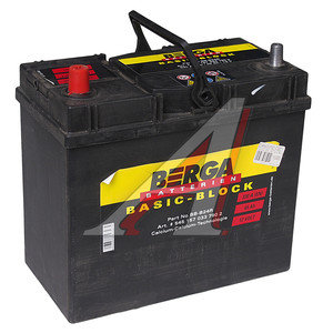 Аккумулятор BERGA Basicblock 45А/ч 6СТ45 BB-B24R, 545 157 033 7902,