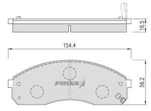 Колодки тормозные KIA Carnival (03-), Pregio передние (4шт.) HANKOOK FRIXA FPK10N, 0K58A-3323Z