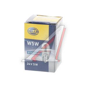 Лампа 24VхW5W (W2.1х9.5d) габарит передний HELLA 8GP003594251, O-2845, А24-5-2