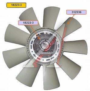 Вентилятор КАМАЗ-ЕВРО 660мм с вязкостной муфтой в сборе (дв.740.30,31 до 2007 г.) BORG WARNER 18223-3, EVF-18223-3
