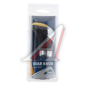 Ручка на рычаг КПП хром/черно-желтая NOVA BRIGHT 37829,