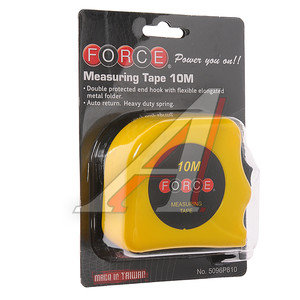 Рулетка 10м FORCE F-5096P810