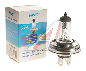 Лампа H4 12V 60/55W P45 HNG H4 АКГ 12-60+55-1 (H4), HNG-12445, АКГ 12-60+55-1