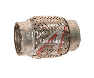 Гофра глушителя 50x100 в 3-ой оплетке interlock нержавеющая сталь FORTLUFT 50x100oem