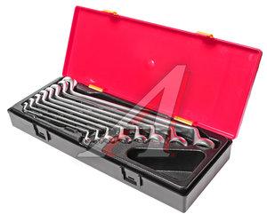 Набор ключей накидных 6-24мм 8 предметов в кейсе изгиб 75град. JTC JTC-K6081