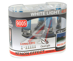 Лампа HB3/9005 12V 60W White Life бокс (2шт.) CLEARLIGHT ML9005WL