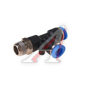 """Фитинг для пластиковых трубок 1/4"""" Т-образный 8мм с наружной резьбой ROCK FORCE RF-SPD08-02"""