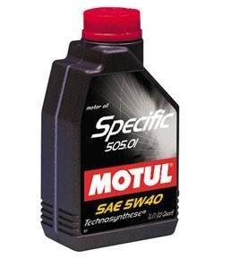 Масло моторное SPECIFIC 505.01 синт.5л MOTUL MOTUL SAE5W40, 101575