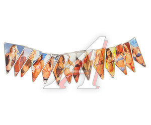 """Флажки на гирлянде """"Девушки и девушки"""" 10х7.2см комплект 14шт. 06571/060361"""