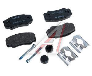 Колодки тормозные PEUGEOT Boxer CITROEN Jumper FIAT Ducato (94-) задние (4шт.) BREMBO P23093, GDB1521, 77362274