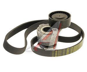 Ремень приводной поликлиновой RENAULT Logan,Sandero,Laguna 3 комплект с роликом OE 7701476476,