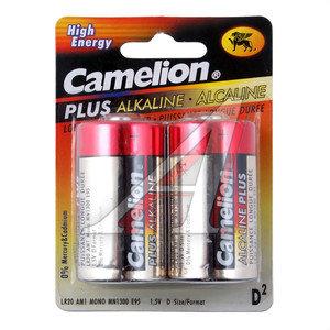 Батарейка D LR20 1.5V Alkaline Plus (по 1шт.) CAMELION C-LR20Pбл