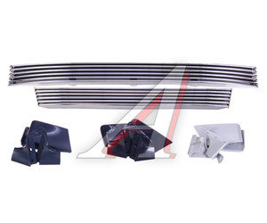 Облицовка радиатора ВАЗ-2113-15 декоративная Linee с решеткой бампера хром комплект Linee, 2114-8401014