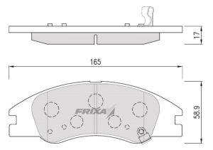 Колодки тормозные KIA Cerato (06-) передние (4шт.) HANKOOK FRIXA FPK17N, 58101-2FA10