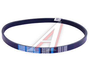 Ремень приводной поликлиновой 4PK665 CHEVROLET Aveo (06-) DONGIL 4PK665, 96239408