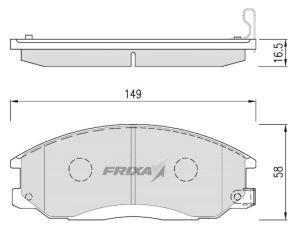 Колодки тормозные HYUNDAI Santa Fe (00-), Trajet (99-) KIA Sorento передние (4шт.) HANKOOK FRIXA FPH11, 58101-3EU00