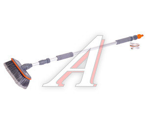 Щетка для мытья автомобиля телескопическая 2-х секционная под шланг с подачей воды STELS 55227,